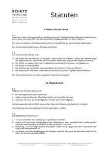 Statuten Schutzverband